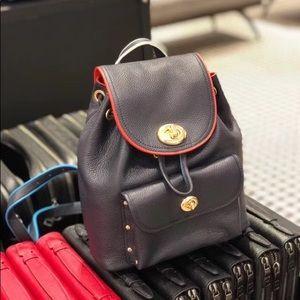 Coach mini backpack with rainbow belt